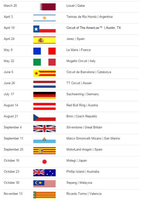 Calendar 2018 Motogp Motogp Calendar What S New In 2016