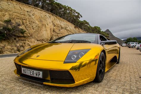 golden cars wallpaper lamborghini murcielago gold chrome coupe vinyl wrap cars