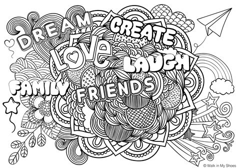 Mindfulness Colouring Printable
