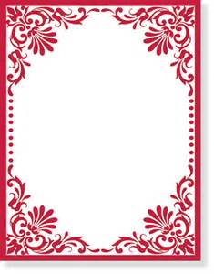 Party red swirl border