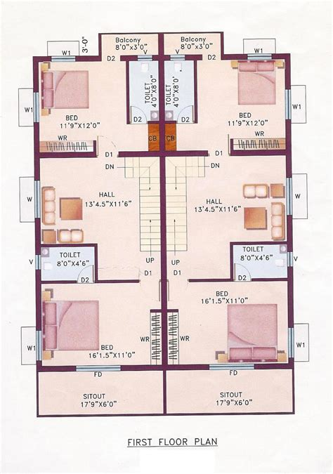 three floor house design india house plans indian 171 floor plans