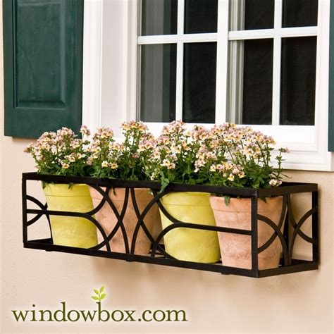 falling water window box cage wrought iron square