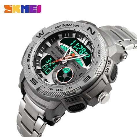 Jam Tangan Skmei Analog Digital 1121 Original skmei jam tangan analog digital pria ad1121 silver