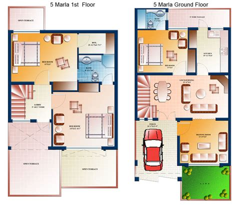 model house design with floor plan