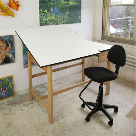 Split Top Drafting Table Alvin 37 5 Quot X 60 Quot Titan Ii Oak Split Top Drafting Table Wsb60