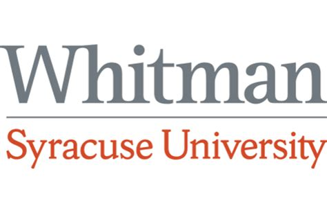 Whitman Syracuse Mba whitman school of management at syracuse