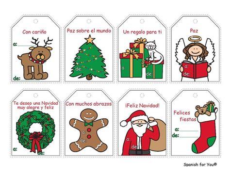 printable christmas cards spanish free spanish christmas gift tags just print on card