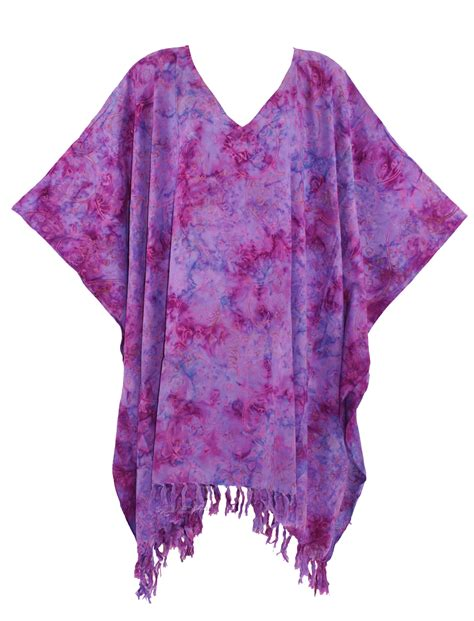 Kaftan Batik 24 purple batik kaftan caftan tunic top blouse plus