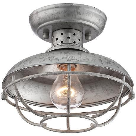 Boys Ceiling Lights Franklin Park 8 1 2 Quot Wide Galvanized Outdoor Ceiling Light Boys Parks And Boy Rooms