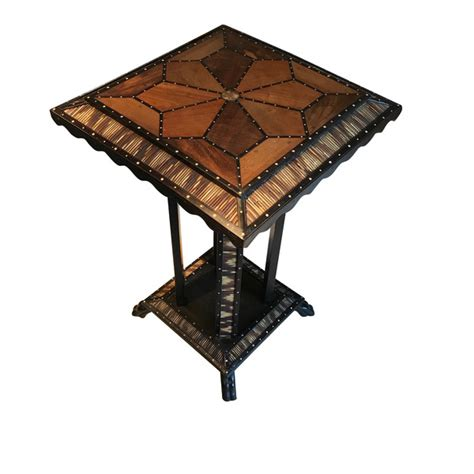 balsamo antiques contemporary indian pieced bone box balsamo antiques 19thc anglo indian inlaid wood side table