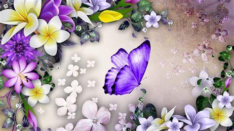 Wallpaper Flowerbutterfly Code No001 Purple Butterfly Wallpaper Wallpapersafari