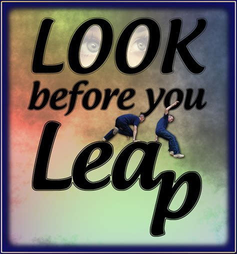 Look Before You Leap Essay an idiomatic essay on look before you leap
