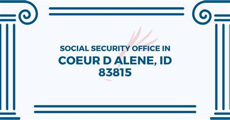 social security office in coeur d alene idaho 83815 get