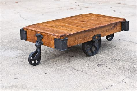 factory cart coffee table buy a custom made factory cart coffee table made to order