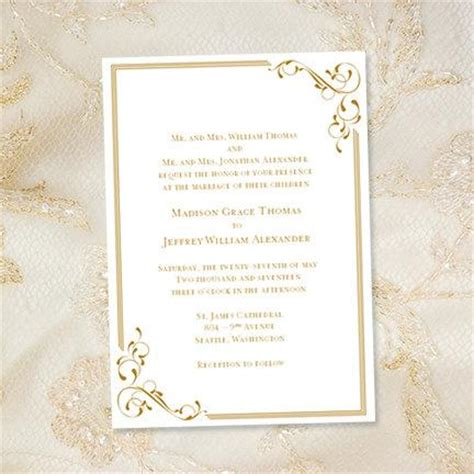 Golden Wedding Invitation Templates by Golden Wedding Invitation Template Wedding Invitation Ideas