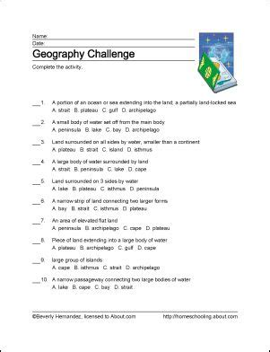 Teachers Curriculum Institute Worksheets Answers by 10 Worksheets That Will Teach Your Child Basic Geography