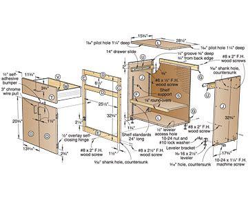 cabinet plans  garage  woodworking