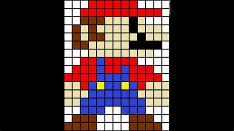 mario pixel template minecraft pixel template mario