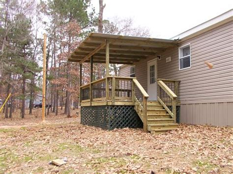 exterior porch and decks for mobile homes by the