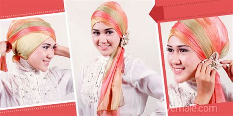 tutorial jilbab pesta lapis cara memakai jilbab kreasi modern cara memakai jilbab