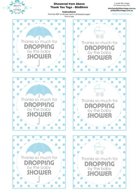 free printable baby shower favor tags template kara s ideas showered from above boy baby