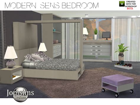 4 bedroom set my sims 4 modern sens bedroom set by jomsims