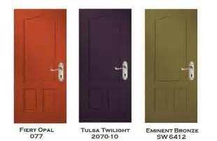 three exterior door color prescriptions from
