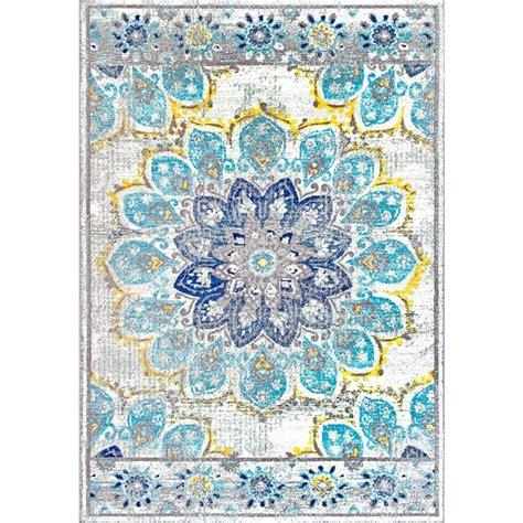 nuloom vintage floral kiyoko blue 8 ft x nuloom vintage floral kiyoko blue 8 ft x 10 ft area rug rzbd59c 8010 the home depot