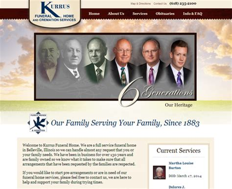 Kurrus Funeral Home by Kruta Bakery Mid America Web Solutions