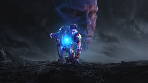 iron man thanos avengers infinity war hd