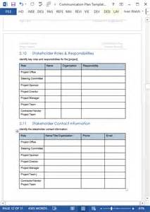 communication plan template excel communication plan templates ms word and excel