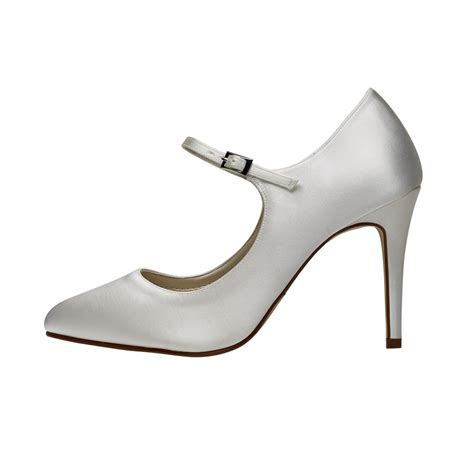 Rainbow Schuhe Ivory by Rainbow Club Hana Ivory Satin Shoes Shoes Co Uk