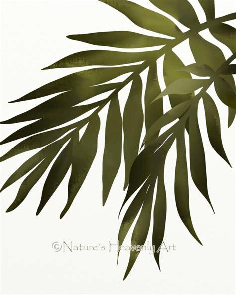 leaf wall decor palm leaf wall print tropical decor 8 x 10 print green