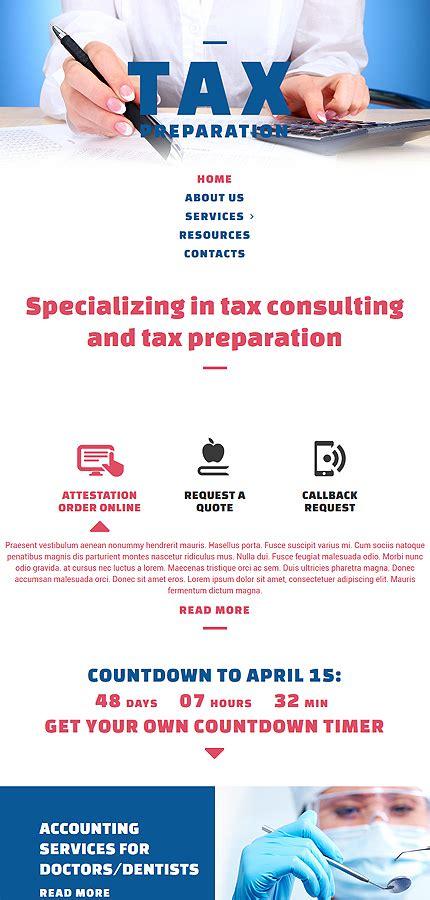 Tax Preparation Website Template Website Templates Tax Preparer Website Template