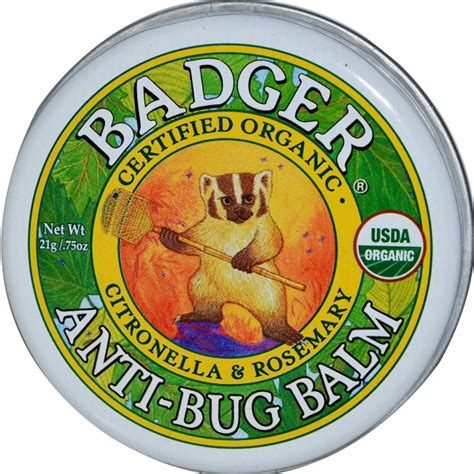 Badger Organic Nursing Balm 21g badger organic anti bug balm 21g 0 75oz babyonline