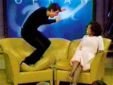 tom cruise couch jump tom cruise jumps on oprah s couch know your meme