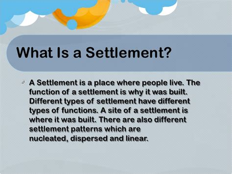 types and pattern of settlement humanity ppt