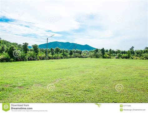 view of mountain field and meadow royalty free stock image
