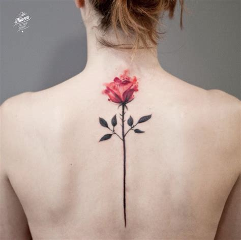 rose tattoo on spine 54 classic floral ideas for tattooblend
