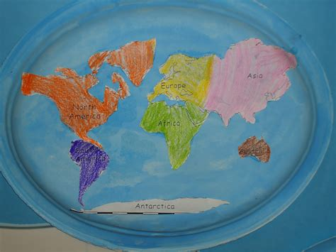 Map Craft Paper - literacy minute paper plate continents