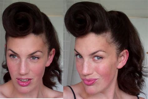 how to 50s hairstyle how to rockabilly roll hairstyle tutorial 40 s 50 s pinup