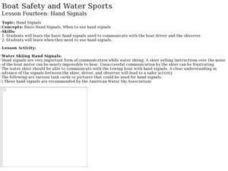 boat safety lessons boat safety and water sports lesson 14 hand signals