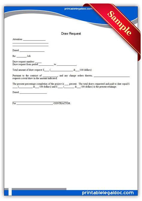 Loan Drawdown Request Letter Free Printable Bid Bond Form Generic