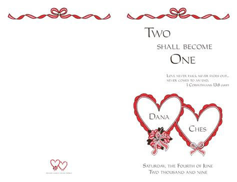 wedding program cover 4