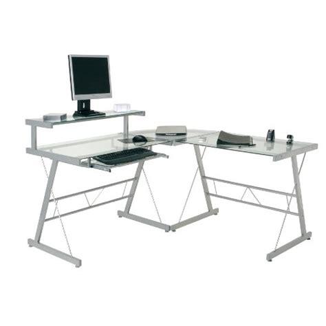 Corner Glass Desks L Shaped Computer Desk Shop For Cheap Living Room And Save