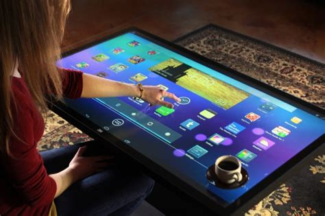 Tablet Coffee Table Android Powered Coffee Table Tablet Is Big Enough For