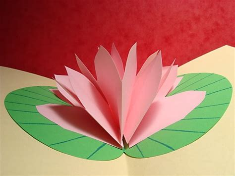 lotus flower pop up card template free lotus flower pop up card