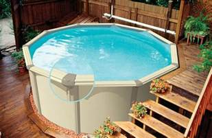 Small Backyard Above Ground Pool Ideas Triyae Small Backyard Landscaping Ideas With Above Ground Pool Various Design