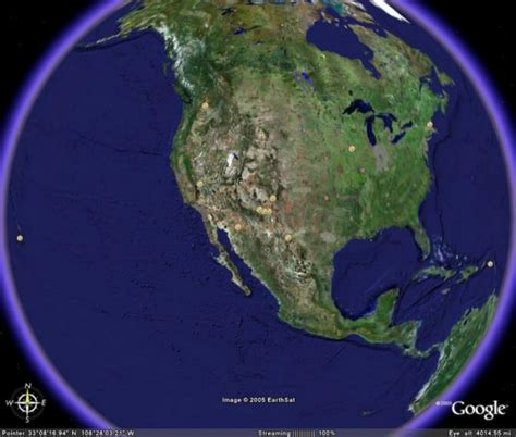vlba sites  google earth