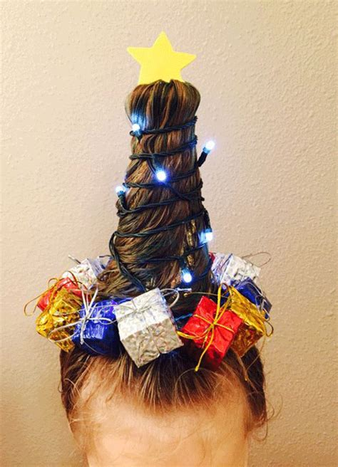 christmas tree hairstyle for girls 15 simple themed hairstyle ideas for hair 2017 modern fashion